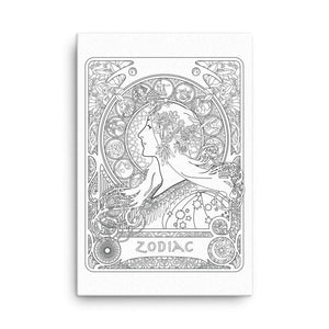 Color Me Chilled Canvas Prints Mucha - Zodiac