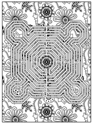 Color Me Chilled Canvas Prints Reims Boho Floral Labyrinth