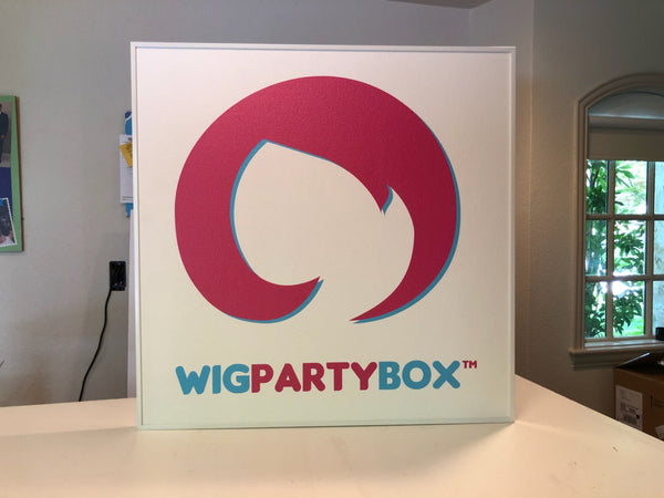 Custom printed cork bulletin board wig party box