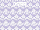 Floral Brocade coolcorks 24 x 18 adhesive back - $80 Amethyst