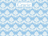 Floral Brocade coolcorks 24 x 18 adhesive back - $80 China Blue
