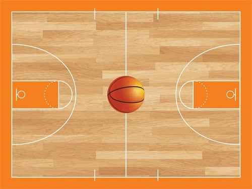 Basketball Court Cork Board coolcorks 24 x 18 adhesive back - $80 Orange