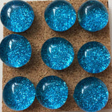 blue glitter push pins coolcorks