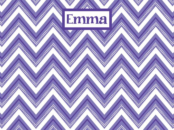 custom cork bulletin board in purple chevron with checkered pattern for home decor