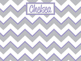 Chevron Pattern with Gray Cork Board coolcorks 24 x 18 adhesive back - $80 Grey and Lavender