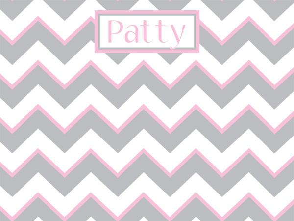 Gray and Pink Chevron Pattern Cork Board with free personalization and free shipping