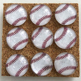 baseball glass marbled push pins coolcorks