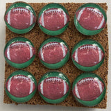 Football glass marbled push pins coolcorks
