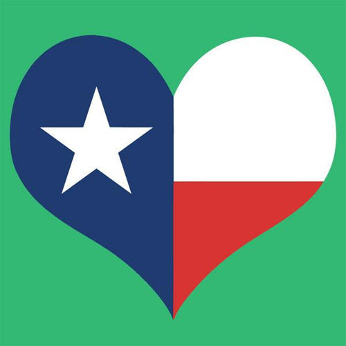 Texas Flag Heart Cork Board coolcorks 12 x 12 adhesive back - $45
