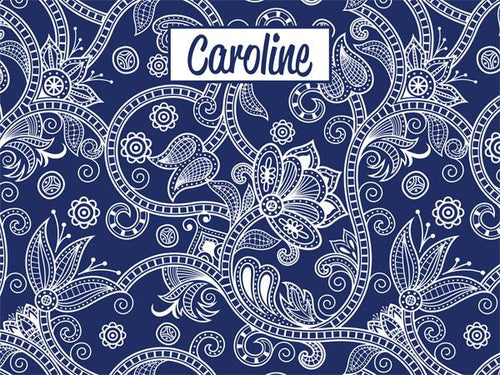 Paisley Pattern coolcorks 24 x 18 adhesive back - $80 Navy Blue