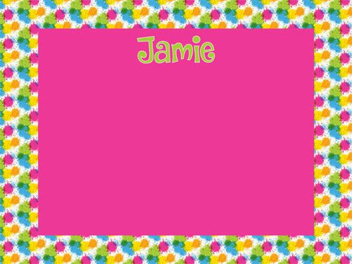 Splatter Cork Board coolcorks 12 x 12 adhesive back - $45 Hot Pink