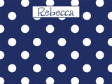 Small Polka Dots coolcorks 12 x 12 adhesive back - $45 Navy