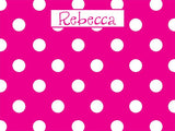 Small Polka Dots coolcorks 12 x 12 adhesive back - $45 Hot Pink