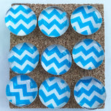 Blue Chevron Push Pins