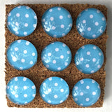 turquoise polka dot glass marble push pins coolcorks