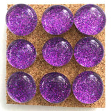 purple glitter push pins coolcorks