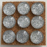 silver glitter push pins coolcorks