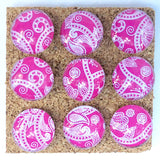 Hot Pink Paisley Push Pins