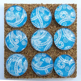 Blue Paisley Push Pins
