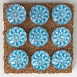 turquoise kaleidoscope glass marbled push pins coolcorks