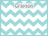 Chevron and Dots Cork Board coolcorks 24 x 18 adhesive back - $80 Mint