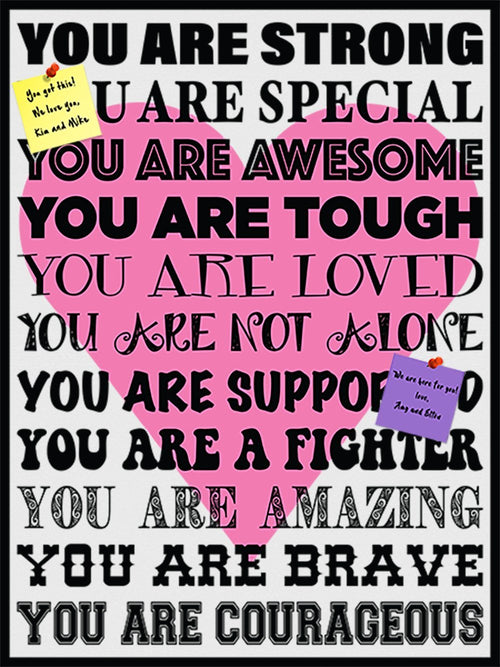 You Are Strong! Cork Board coolcorks Pink