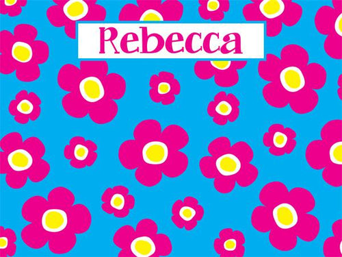 Flower Power coolcorks 12 x 12 adhesive back - $45 Cyan/Hot Pink