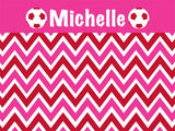 Soccer Chevron coolcorks 12 x 12 adhesive back - $45 Hot Pink/Red