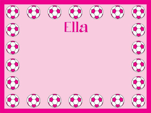 Soccer Border coolcorks 12 x 12 adhesive back - $45 Pink