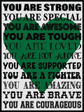 You Are Strong! Cork Board coolcorks Green
