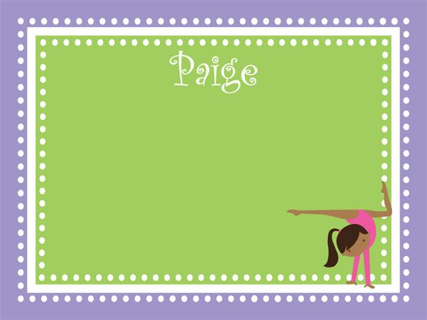 Gymnastics Dots Border