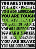 You Are Strong! Cork Board coolcorks Lime