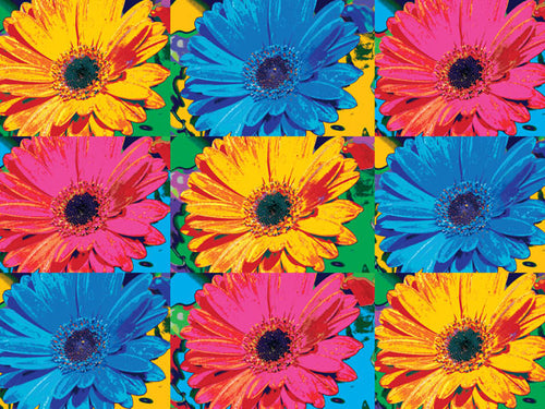 Pop Art Flowers Cork Board
