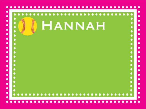 Softball Dots Border