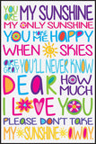 Your Are My Sunshine Cork Board coolcorks 24 x 18 adhesive back - $80 White