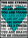 You Are Strong! Cork Board coolcorks Teal