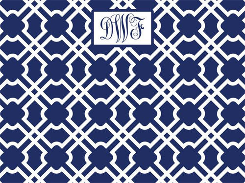 Geometric Tiles Pattern coolcorks 12 x 12 adhesive back - $45 Navy