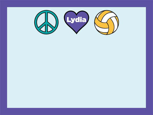 Peace Love Sport coolcorks 24 x 18 adhesive back - $80 Volleyball