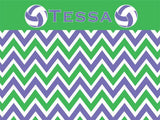 Volleyball Chevron Cork Board coolcorks 12 x 12 adhesive back - $45 Purple/Green