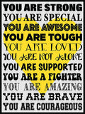 You Are Strong! Cork Board coolcorks Yellow