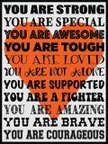 You Are Strong! Cork Board coolcorks Orange