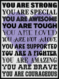 You Are Strong! Cork Board coolcorks Lavender