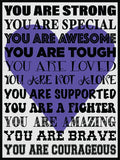 You Are Strong! Cork Board coolcorks Purple