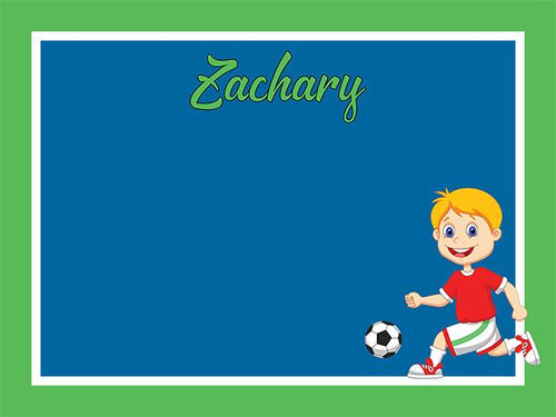 Soccer Star - Boys coolcorks 12 x 12 adhesive back - $45 Blue/Green