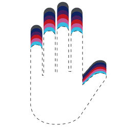 Batting Glove Sizing Tool