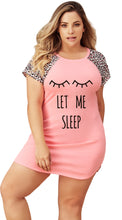 Life is Better in PJ's, Short Sleve Sleep Shirt, Pink/Animal Print