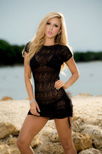 SALE  !!   Beach Cover Up, Short Fitted Lace , Black, or White, LIMITED SIZES