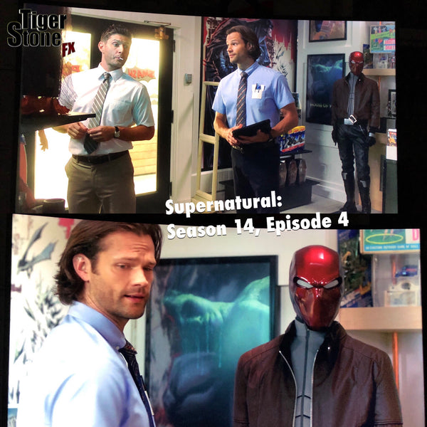 "Our Red Hood helmet in ""Supernatural"""