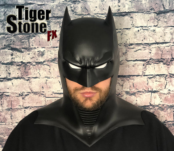 GD Batman cowl - by Tiger Stone FX (front with white eyes)