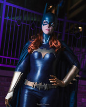 Batgirl costume bundle deal: Cowl, emblem, belt & fins - Gold or yellow accessories (can be made in other colors)